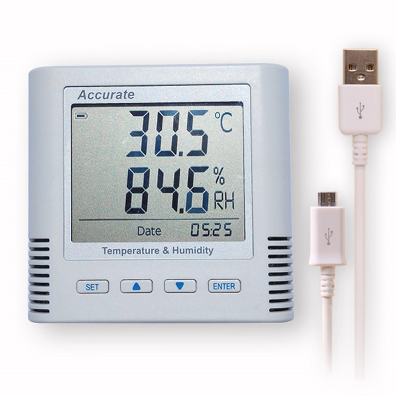 Temperature and Humidity Recorder Sensor Logger Temperature and Humidity Logger Can USB Cable To Connect PC Export Data