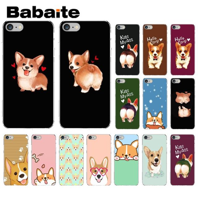 best service bcf63 f093c US $0.53 51% OFF|Babaite Cute Corgi cartoon Dog Newly Arrived Transparent  Cell Phone Case for Apple iPhone 8 7 6 6S Plus X XS MAX 5S SE XR Cover-in  ...