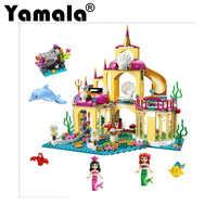 Yamala 2016 New Building Blocks Princess Mermaid Ariel S Undersea Palace Buildable Figures Compatible Legoingly