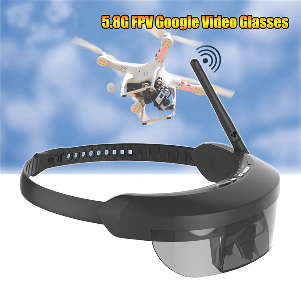 5.8G HDMI-IN monoculaire FPV lunettes 98 pouces mise à niveau AR VR lunettes vidéo virtuelles RC Drone AR 40CH FPV unique antennes récepteur # SW