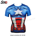 Marvel Super Heroes Avenger Captain America Batman T shirt Men Base Layer Thermal Top  Fistness tshirt homme plus size
