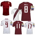 NEW Torino FC 2016/17 Sportswear  Jerseys Home and away custom name number Torino FC shirts