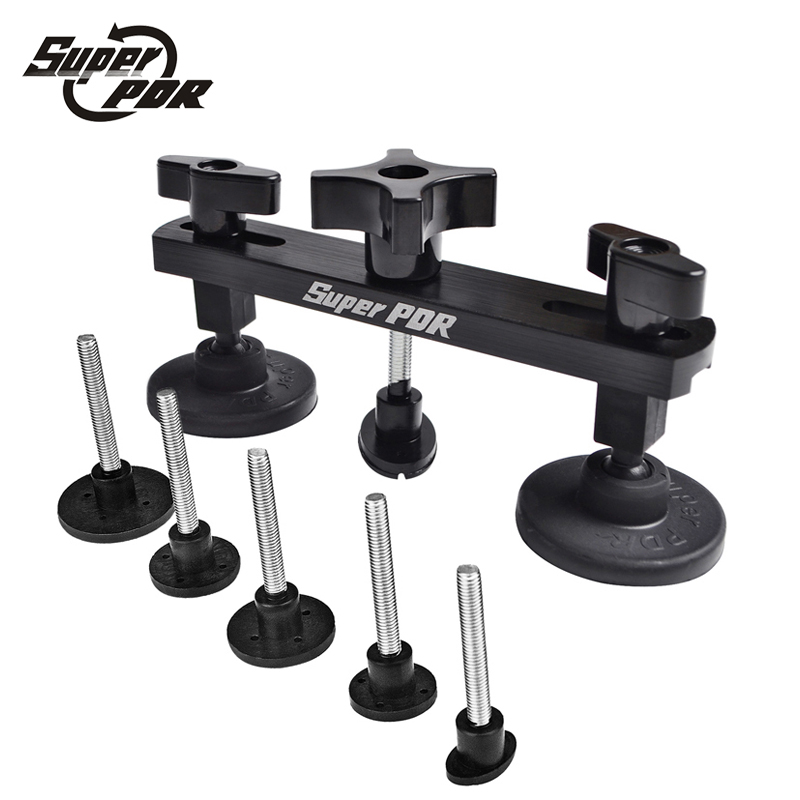 PDR Pulling bridge tool set Paintless Dent Repair Removal Pulling Tabs Suction Cup Plate Hail Damage Repair Tools kit