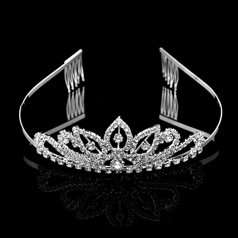 Joyme New Crystal Rhinestone Crown Silver Color Hair Accessories Bridal  Tiara Wedding Hair bands Girl s Birthday Hairwear Coroa-in Hair Jewelry  from Jewelry ... 2e3a71b51af6