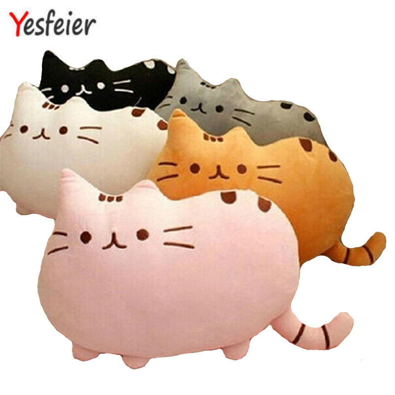 7 colors 40*30cm plush toy stuffed animal doll anime toy pusheen cat pusheen skin girl kid kawaii,cute cushion brinquedos Kids kawaii pusheen cat brinquedos 15cm 23cm donuts cupcake sushi