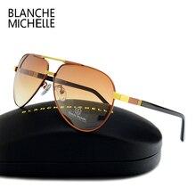 2017 High Quality Pilot Sunglasses Men Polarized UV400 Gradient Lens Driving Sun Glasses Mens Brand Designer With Original Box