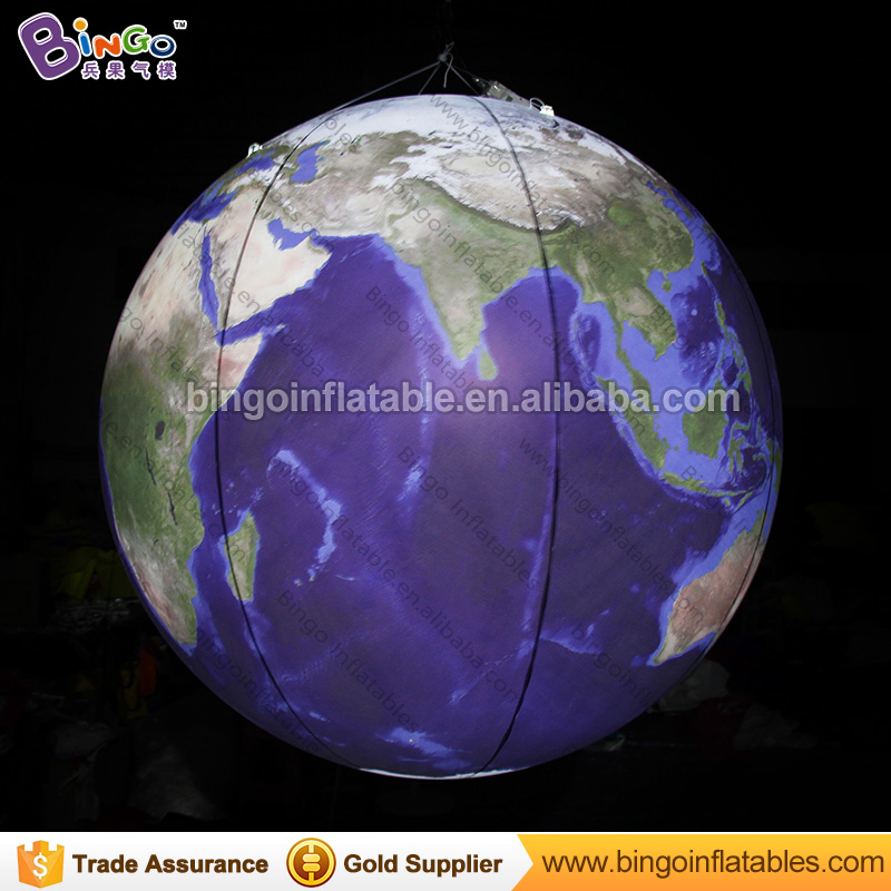 Customized size earth globe replica, giant inflatable earth globe ball, Lighted planet balloon inflatables for party decoration giant inflatable balloon for decoration and advertisements