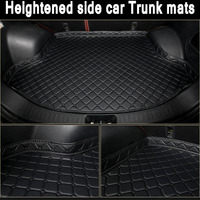ZHAOYANHUA Custom fit Heightened side car Trunk mats for Mercedes GLC 200 260 300 220d 250d 350e AMG Coupe