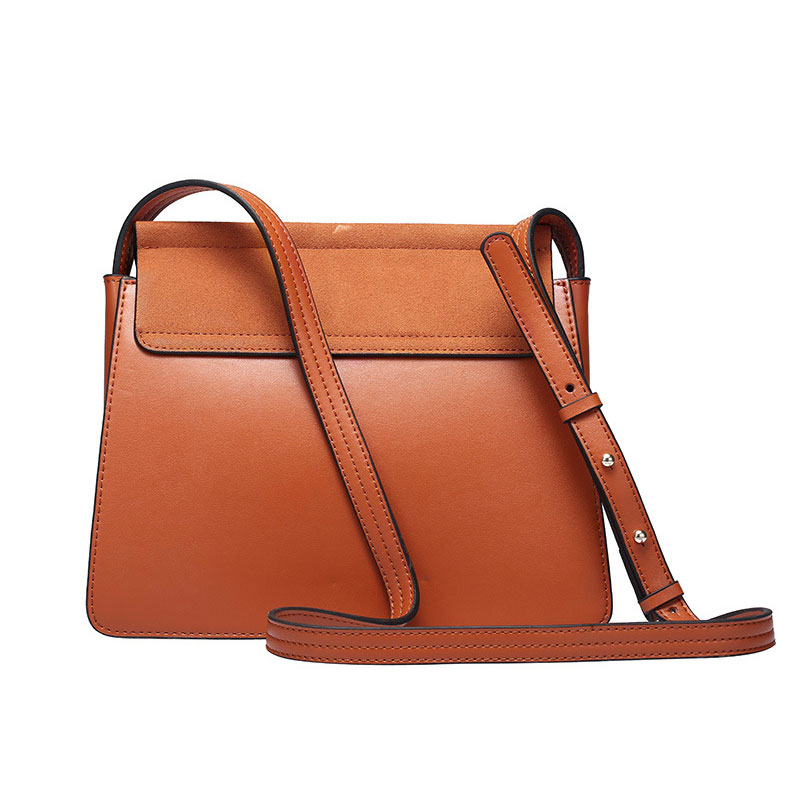 100 Genuine Leather Women Shoulder Bags Famous Brand Metal Ring Chains Women Crossbody Bag Retro Natural Nubuck Leather Handbag in Shoulder Bags from Luggage Bags