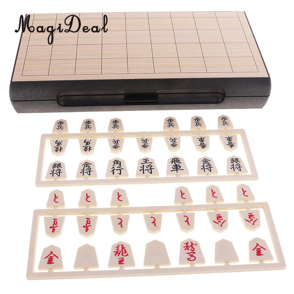 MagiDeal Top Quality 1Pc Magnetic Folding Shogi Set 24x24cm Boxed Japanese Chess Game Portable for Funny Family Party Kids Gift