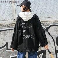 Harajuku jacket teen girls clothing letter print denim jacket Harajuku clothes KK2068 Y