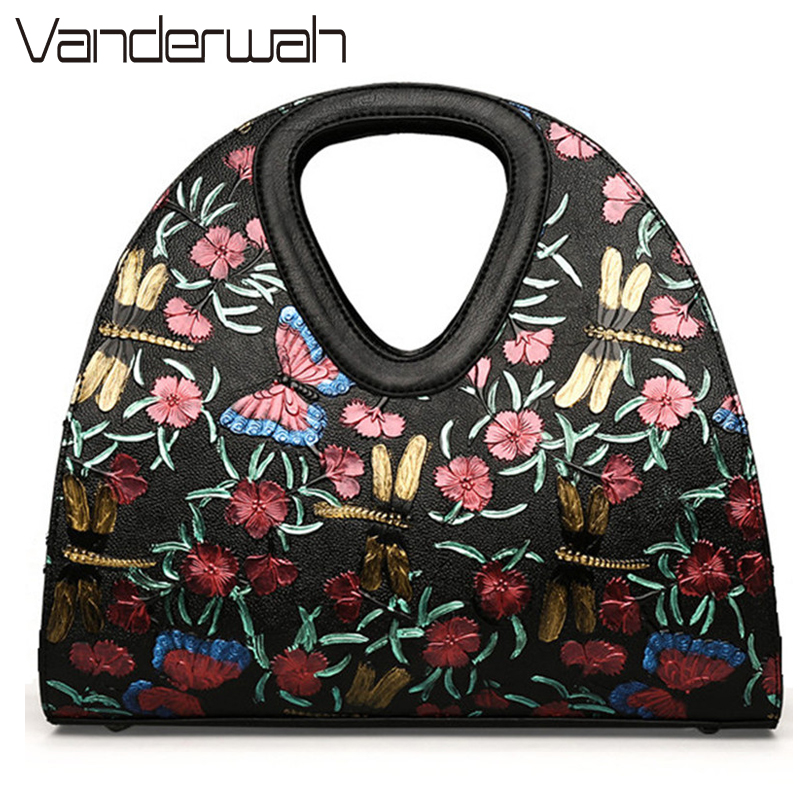 Embroidered butterfly bag Retro Leather bag luxury handbags women bags designer brand ladies hand bag Sac a main femme de marque а а азаров большой англо русский словарь религиозной лексики comprehensive english russian dictionary of religious terminology