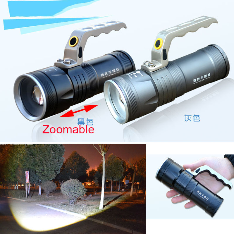 Zoomable long-range portable lamp miner's flashlight high power led flashlight rechargeable searchlight led 1w 3w 5w flashlight light portable rechargeable rechargeable ultra long range outdoor long range searchlight lantern