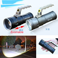 Zoomable long-range portable lamp miner's flashlight high power led flashlight rechargeable searchlight