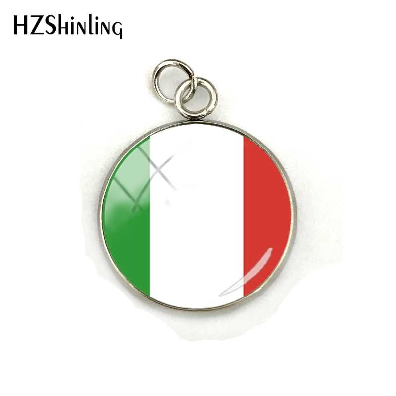 New Arrival Russia France Spain Netherlands USA Flag Glass Cabochon Pendant Nathional Flag Jewelry Charms Accessories
