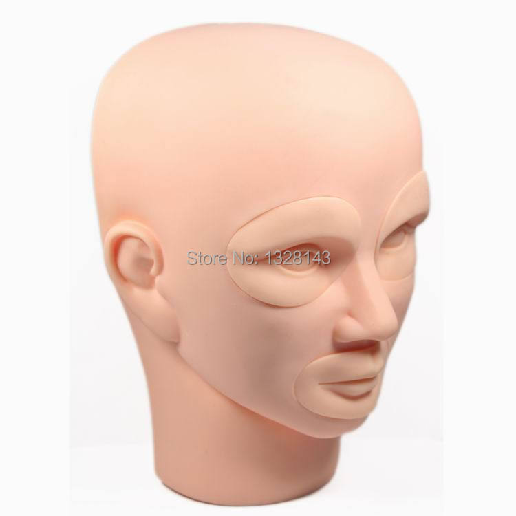 Wholesale - 3D permanent makeup tattoo 10sets practice skin training mannequin  Head With Inserts Cosmetic free shippingDHL