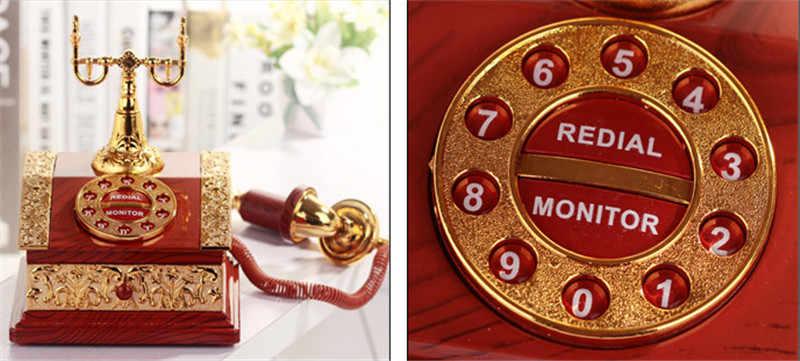 恋人の結婚式の家の装飾オルゴール古典赤電話置物デスクトップジュエリーボックス豪華なギフト高品質オルゴール