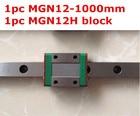 1pcs MGN12 - 1000mm linear rail + 1pcs MGN12H long type carriage
