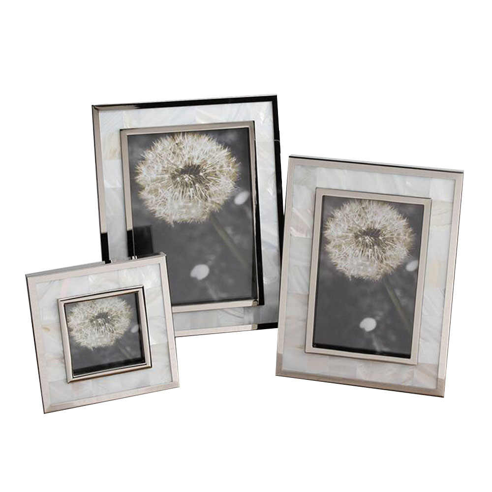 Fashionable Hand-made Home Deco Natural Seashell Photo Frames, Shell Framing Display YSPF-007