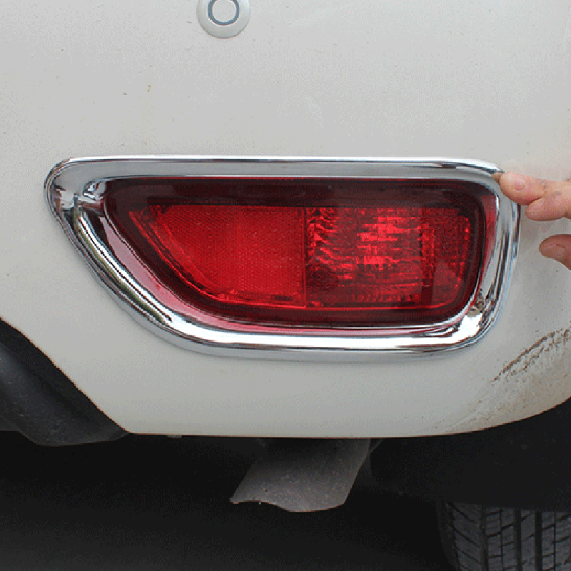 Free Shipping High Quality ABS Chrome Rear Fog lamps cover Trim Fog lamp shade Trim For Nissan Patrol Armada Y62 high quality chrome tail light cover for mitsubishi l200 triton free shipping