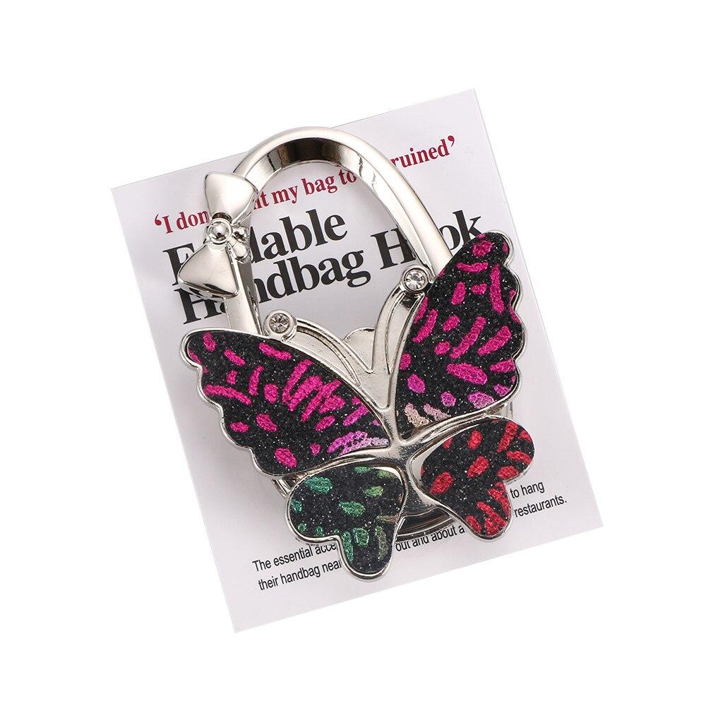 Hook Portable Table Hook Hanging Wallet Handbag Hooks Purse Bag DIY Hook Foldable Colorful Butterfly Folding HandBag