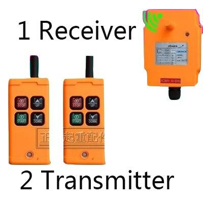 OHOBOS HS-4 4 Channels1Speed Contrôle Palan Industriel Sans Fil Grue Radio Télécommande 4 touches 1 récepteur + 2 émetteur