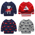 2016 Long Sleeve Children's Sweater Spring Autumn Baby Boys Cartoon Casual Knitted Sweater Kids Pullover Sweater Boy Clothing