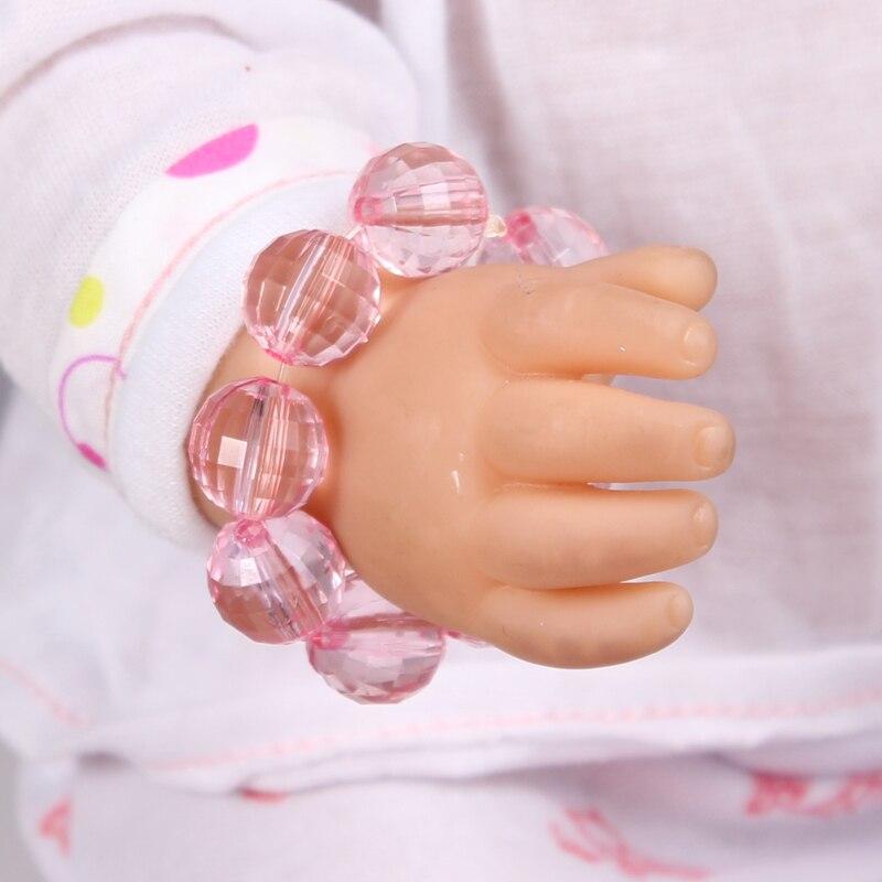 Doll accessories Pink Crystal Beads Bracelet fit 43cm Baby Born zapf Children best Birthday Gift A29