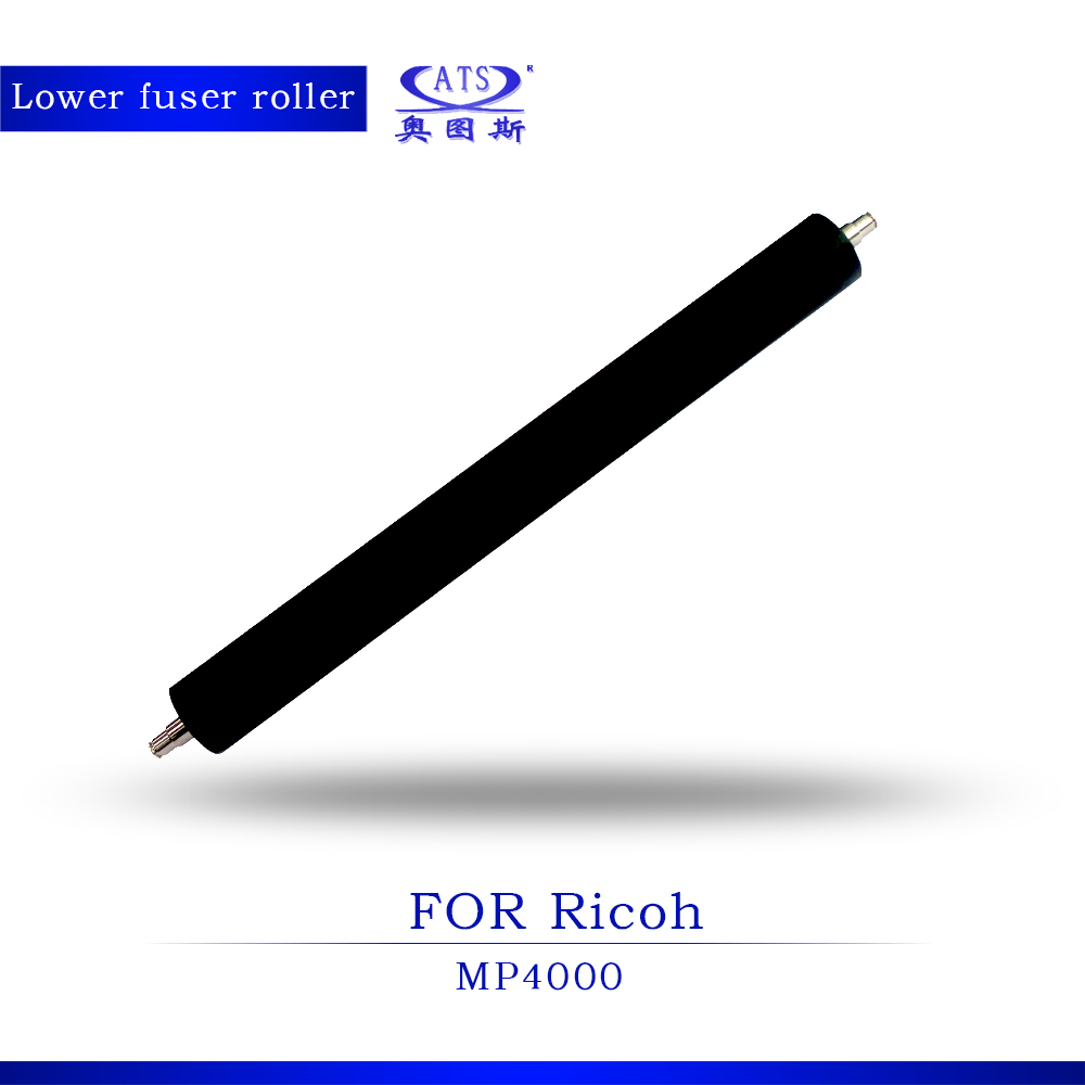 1pcs High Quality Photocopy Machine Pressure Roller For Ricoh AFicio MP4000 Coiper Parts MP 4000 Lower Fuser Roller mp9000 heating roller high quality copier parts for ricoh aficio mp1100 mp1350 mp9000 upper fuser roller 2500000 pages