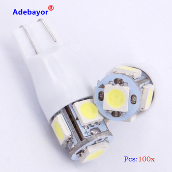 100 x free shipping T10 strobe Flash W5W 194 5 SMD 5050 LED SMD light with Two modes of Operation car strobe light white blue