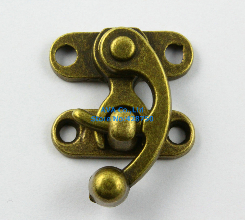 10 Antique Brass Decorative Hasp Jewelry Box Hasp Lock Latch 29x33mm