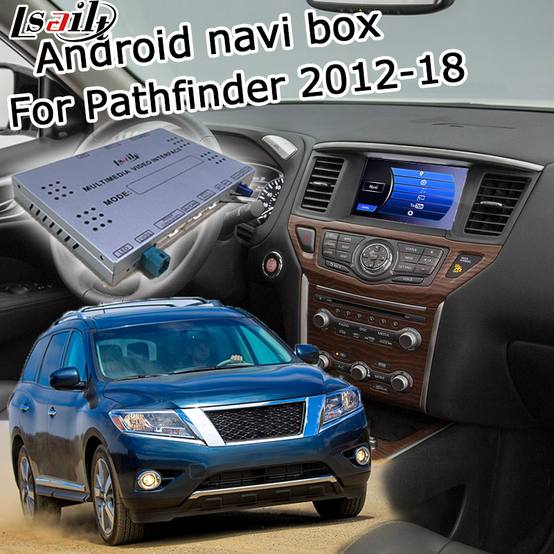 Lsailt Android GPS navigation box for Nissan Pathfinder 2012 2017 high end, with G QX50 QX60 Q70 QX80 etc youtube yandex support