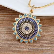 Personalized Custom Design CZ Beads Copper Chains Sunflower Pendants DIY Jewelry Men Women Family Party Sports Wedding Necklace(China)