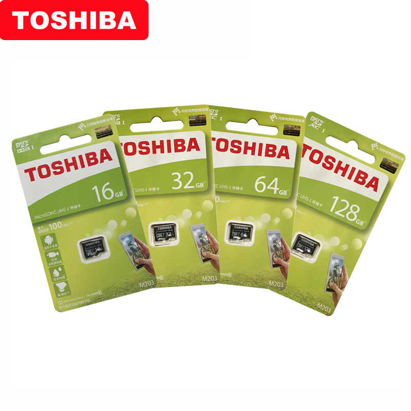Image 5 - TOSHIBA Micro SD Card M203 Class 10 16GB 32GB 64GB 128GB Memory Card C10 Mini SD Card SDHC SDXC UHS I TF Card For Smartphone/TV-in Micro SD Cards from Computer & Office
