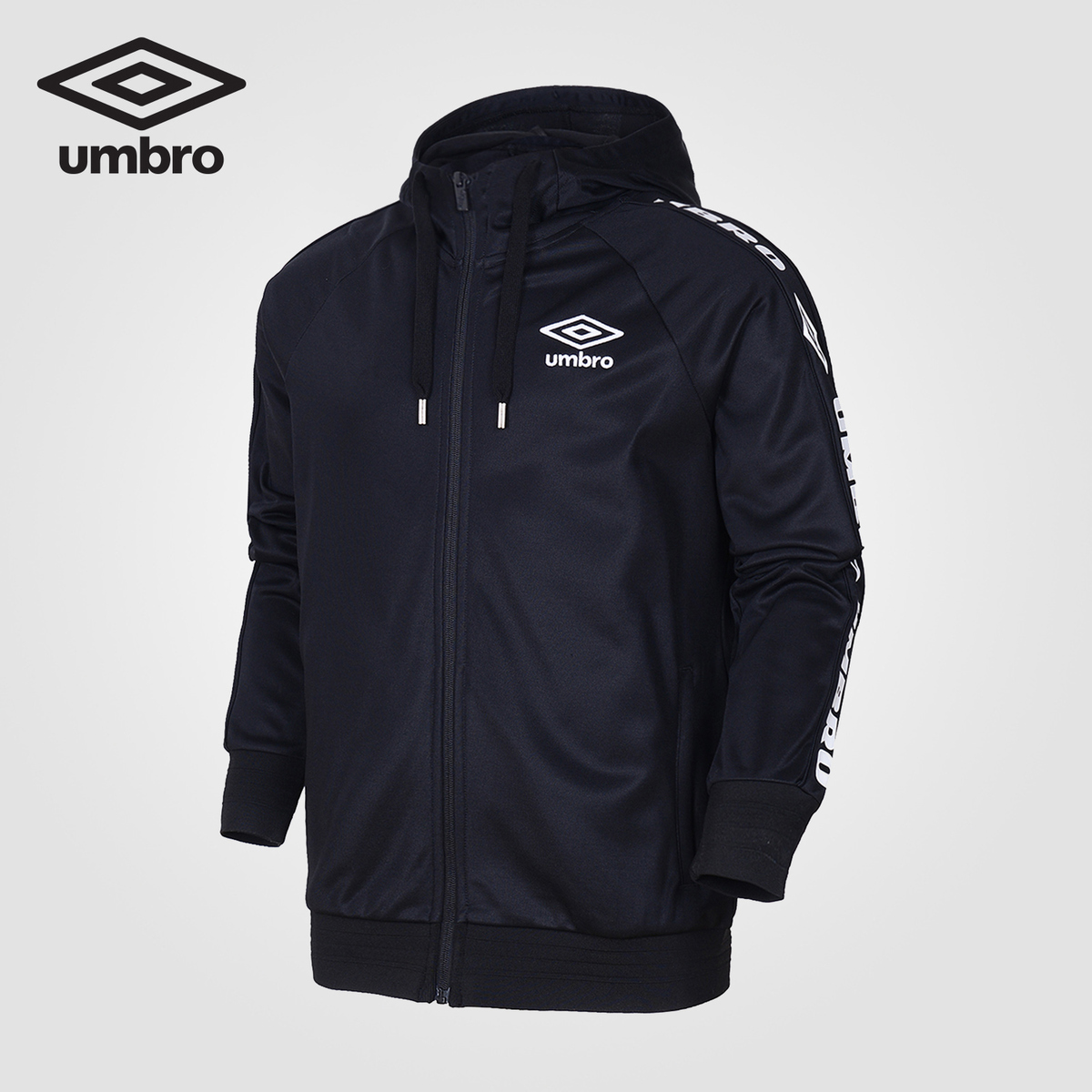 Umbro 2018 Sports Hooded Cardigan Jacket Running Jacket Outdoor Sport Mens Jacket Waterproof Windproof Sportwear UI183AP2405 цена