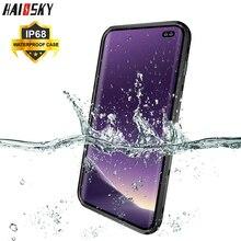 IP68 su geçirmez kılıf Samsung S8 S9 S10 artı şeffaf sualtı dalış geçirmez kapak için Samsung S10e not 9 8 telefon kılıfları