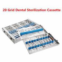 Estante de esterilización Dental caja de esterilización Autoclavable quirúrgica bandeja de desinfección de cintas dentales herramientas de dentista