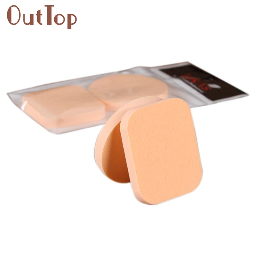 2PCS Makeup Foundation Beauty Cosmetic Facial Face Sponge Powder Puff 0323B