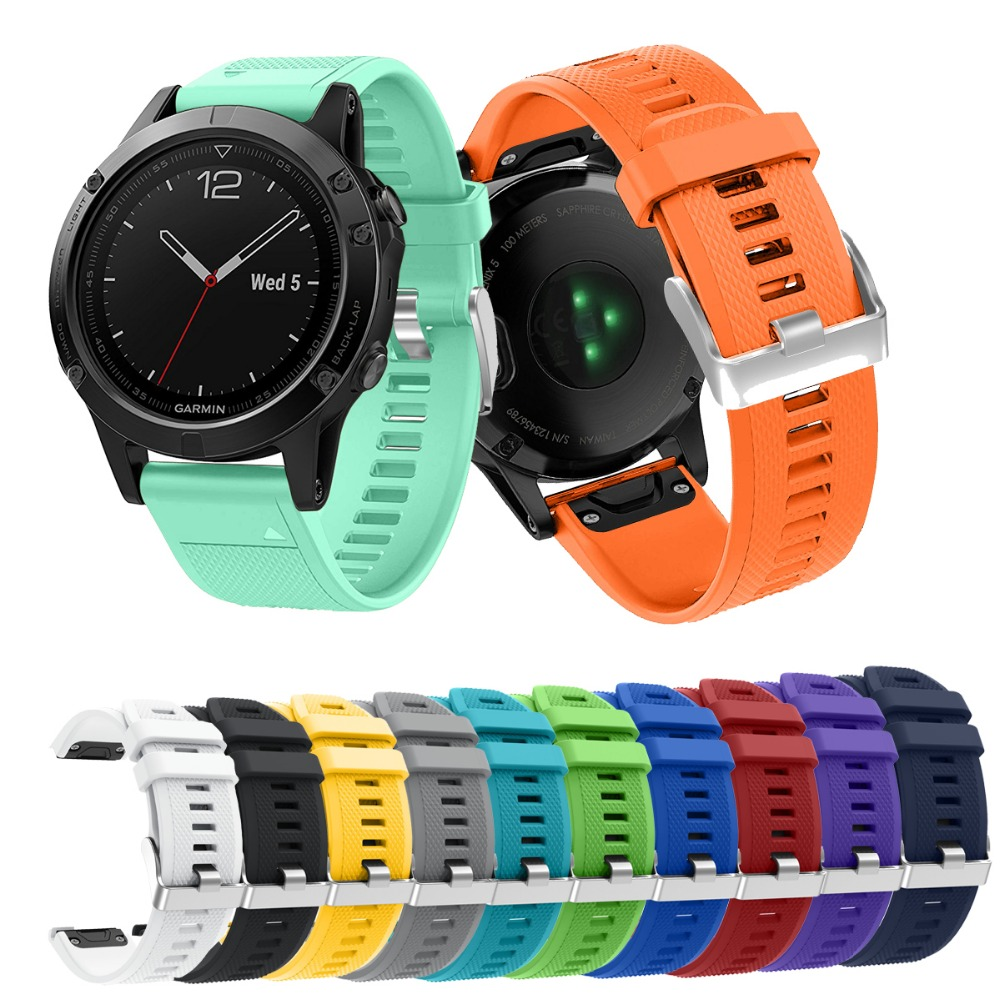 Replacement Quick Release 22MM watch bands For Garmin Fenix5 GPS And Forerunner 935 bands Sports silicone watch strap