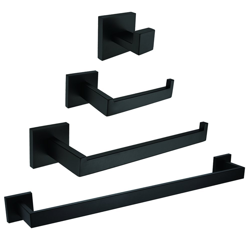 Black Painting Bathroom Hardware Set 304 Stainless Steel Accessory Wall Mounted Products