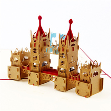 3D London Tower Bridge Handmade Carving Paper Greeting Card Business Invitation Card PostCards Creative Souvenir Gifts Universal