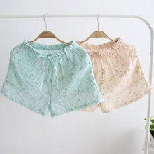 Summer Sleep Shorts Cotton Pajama Pants Striped Floral Sleep