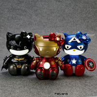 Hello Kitty Cosplay Show Voice Control Hello Kitty Cos Iron Man Batman Captain America PVC Action
