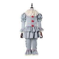 Stephen King's It pennywise Косплэй костюм Для мужчин Для женщин Хэллоуин ужас Косплэй Джокер Полный Набор