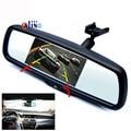 """4.3 """"TFT LCD 640*480 Разрешение Экрана Со Специальным Кронштейном Монитор Зеркала Автомобиля Video Player 2 Видеовхода Для Заднего Камера вид"""