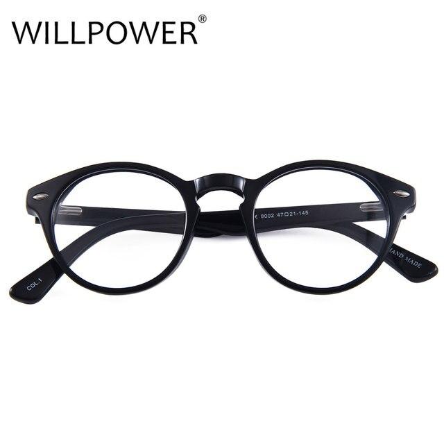 WILLPOWER Fashion Brand Women Myopia Eye Glasses Frame Round Optical ...