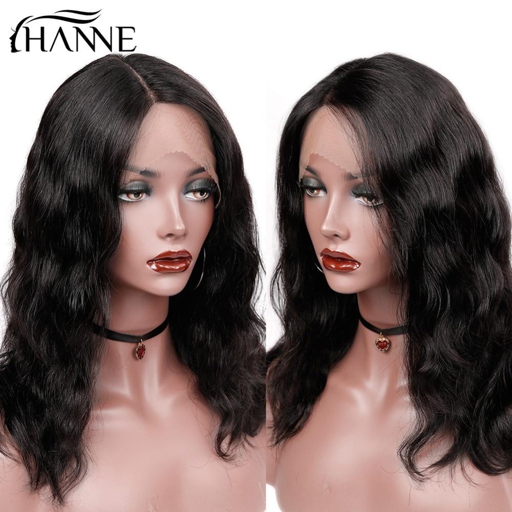 Hanne cabelo brasileiro remy onda natural perucas de cabelo humano para preto frete grátis entrega rápida