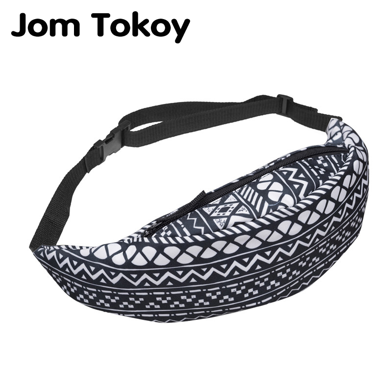 Jom Tokoy New Colorful Waist Pack For Men Fanny Pack Style Bum Bag Geometric Stripe Women Money Belt Travelling Waist Bag