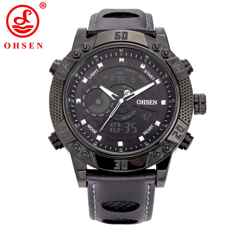 OHSEN Fashion Sports Brand Watch Men's Digital Water Resistant Quartz Alarm Wristwatches Outdoor LED Casual Watches AD1609 alike ak1391 sports 50m water resistant quartz digital wrist watch black orange