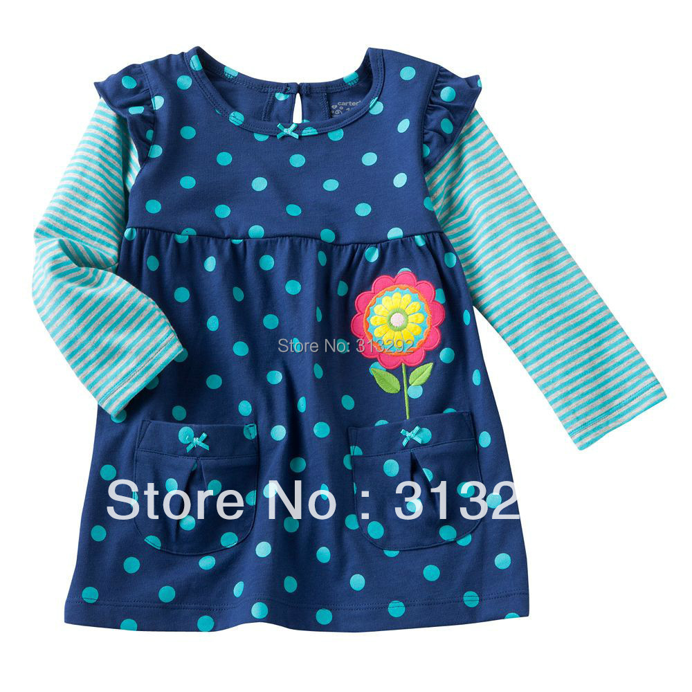 T-Shirts Flower Long-Sleeve Baby High-Quality Children Top Cotton for 1-6 Year. BJT180